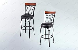 COLIDYOX>2X Adjustable Seat Height Swivel Bar Stools Counter Metal Barst... - $185.33