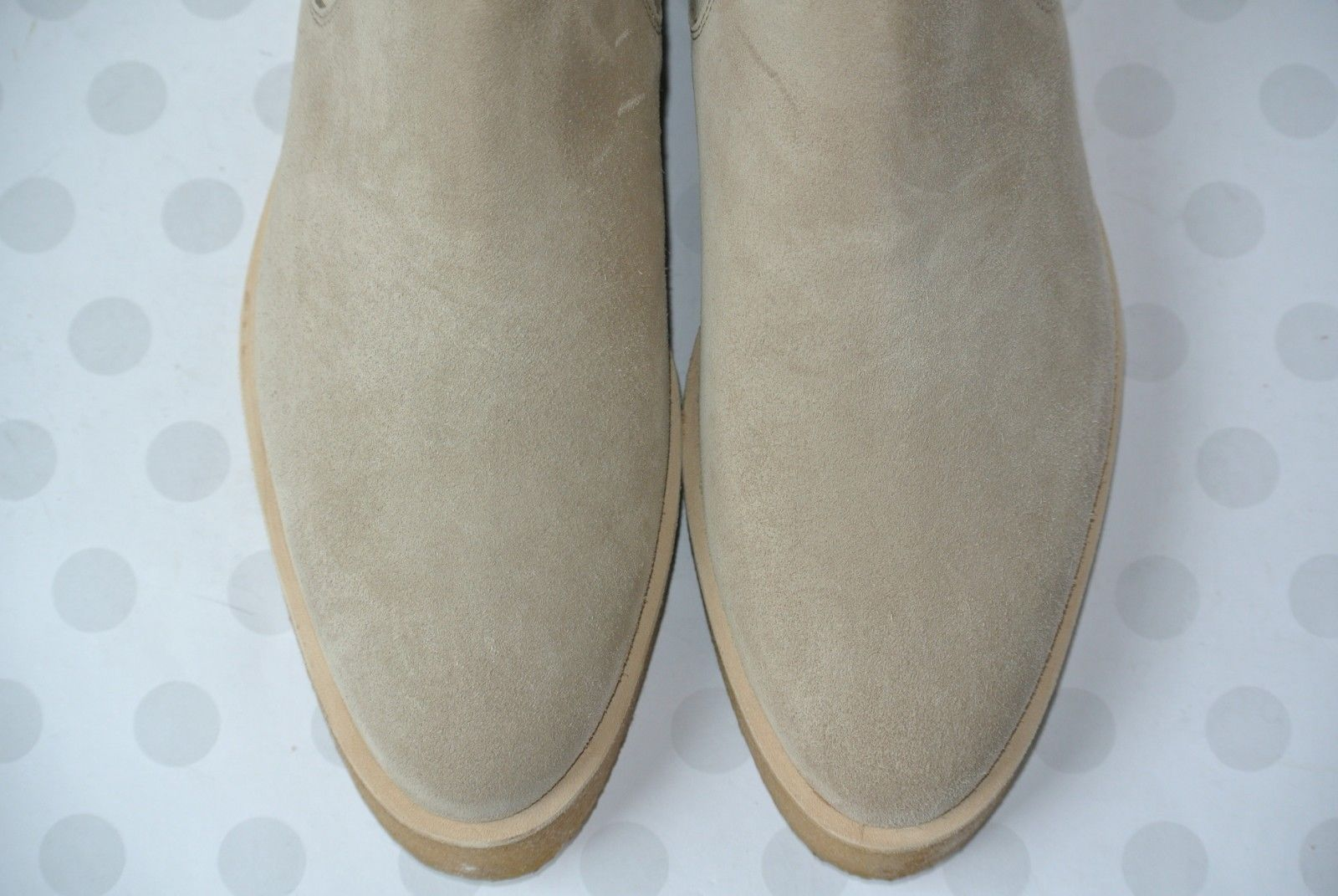 NEW Clarks Italy Ornella Chelsea Womens 8.5 M Sand Suede Wedge Ankle Boots $299