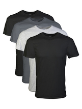 Big Men's 2XL Short Sleeve Crew Assorted Color T-Shirt, 4-Pack - $67.13 CAD