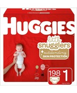 Huggies Little Snugglers Baby Diapers, Size 1 (up to 14 lb.), 198 Ct, Ec... - $64.18