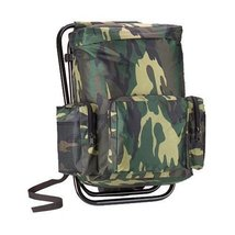 Woodland Camouflage Backpack and Stool Combination - $44.99