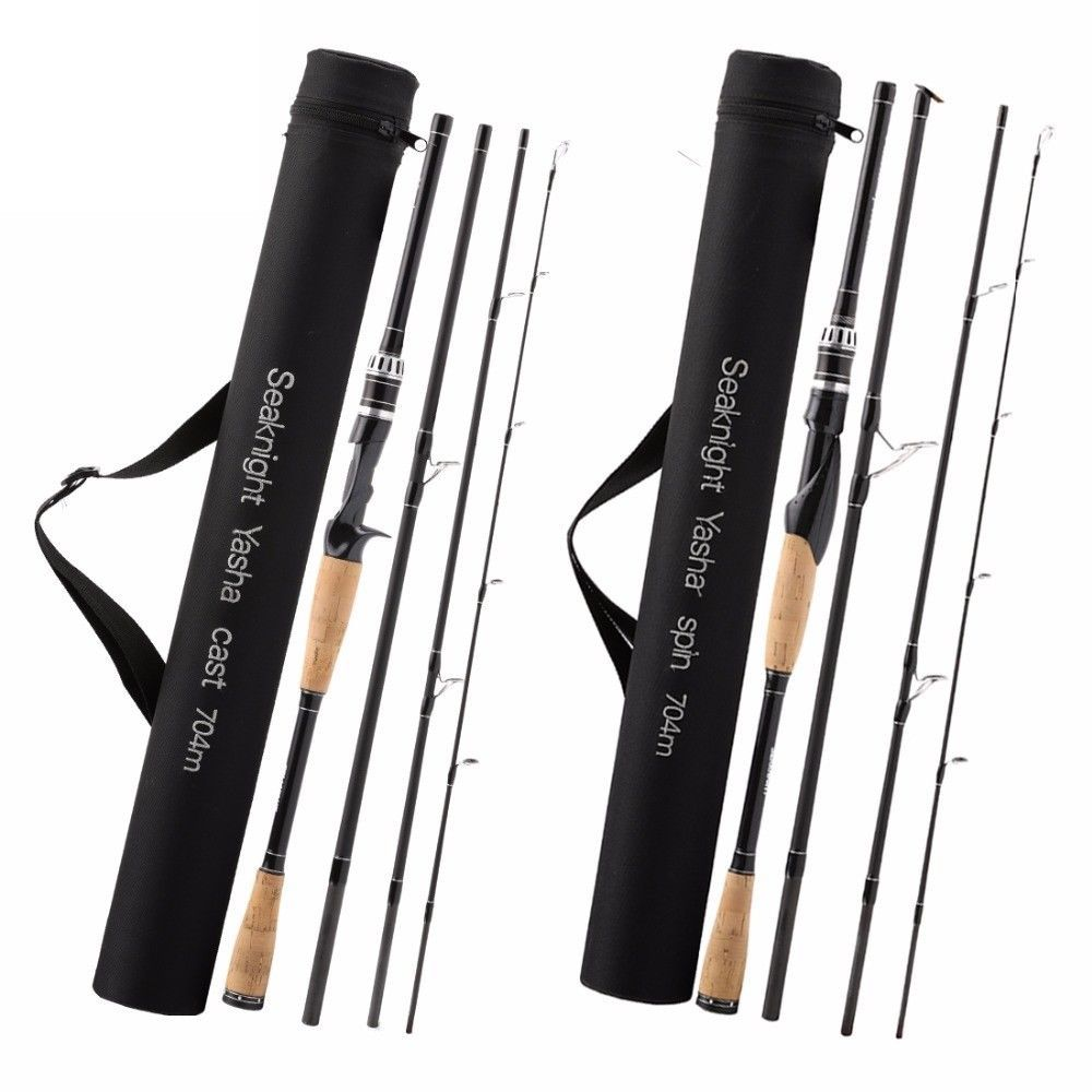 Spinning Fishing Rod Travel Size Portable 1.3//1.5//1.8m Heavy Power Pole Strong