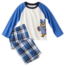 Just One You By Carters Boys Two Piece Pajamas Sleepwear Bear Football NWT - $8.44