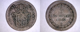1850-VR Italian States Papal States 1/2 Baiocco World Coin - Pius IX - $24.99
