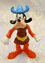 """GOOFY DISNEY Viking Character Poseable Figurine Plastic Toy Collectible 4"""""""