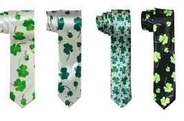 St Patty's Day Saint Patricks Day Shamrock Necktie Clover Leaf Tie - Ass... - $7.47