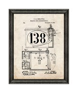 Electric Vote Annunciators Patent Print Old Look with Black Wood Frame - $24.95 - $109.95