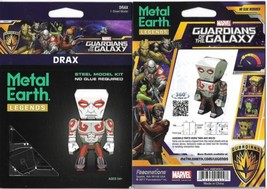 Guardians of the Galaxy Drax Figure Metal Earth 3-D Laser Cut Steel Mode... - $10.65