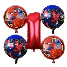 PHLUMY 5pcs/lot Spiderman Birthday Party Decorations Number - £14.82 GBP