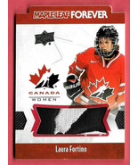 2016-17 Laura Fortino Upper Deck Canada Juniors Maple Leaf Forever Patch - $61.74