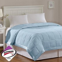 Year Round Light Blue Microfiber Down Alternative Blanket w/3M Scotchgar... - $1.152,86 MXN+