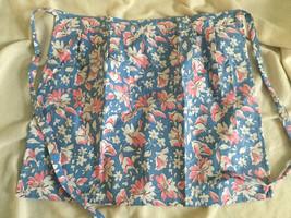 Blue Floral Pattern Half Waist Apron NEW ONE SIZE - $6.00