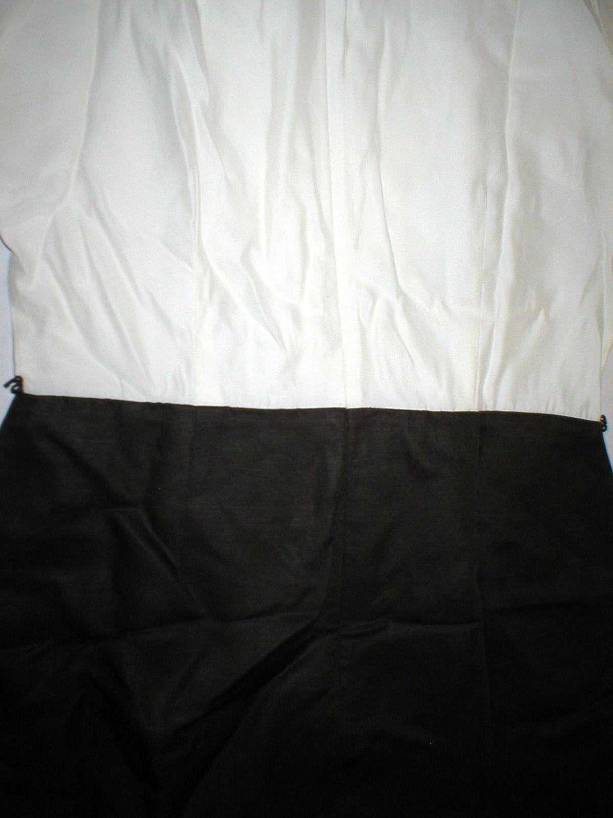 Womens NWT $398 Worth New York 6 Dress Brown White Silk Tencel Colorblock Office image 6