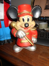 Mickey Mouse Leading a Parade VINTAGE Nice Bank Vinyl TOY - $74.25