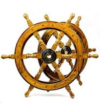 Nagina International Nautical Handcrafted Wooden Ship Wheel - Home Wall ... - $61.53