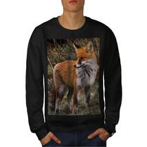 Flaming Hunter Fox Jumper Clever Beast Men Sweatshirt - $18.99+