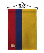 Colombia Burlap - Impressions Decorative Metal Wall Hanger Garden Flag S... - $33.97