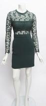 Romeo & Juliet Couture Lace Overlay High Waist Bottom Mini Green Dress Sz S - $39.60