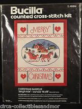 Sampler Bucilla Christmas Sleigh Ride Cross Stitch Holiday Kit 48814 Siz... - $27.84