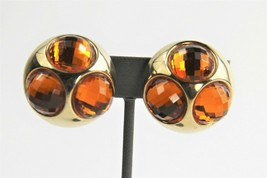 """ESTATE Jewelry EARLY 1900's HUGE TOPAZ CRYSTAL """"BUG EYE"""" CLIP STATEMENT ... - $15.00"""
