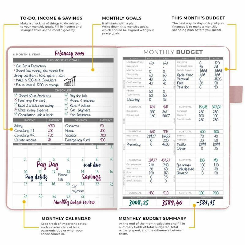 Clever Fox Budget Planner - Expense Tracker Notebook. Monthly Budgeting Journal, image 2