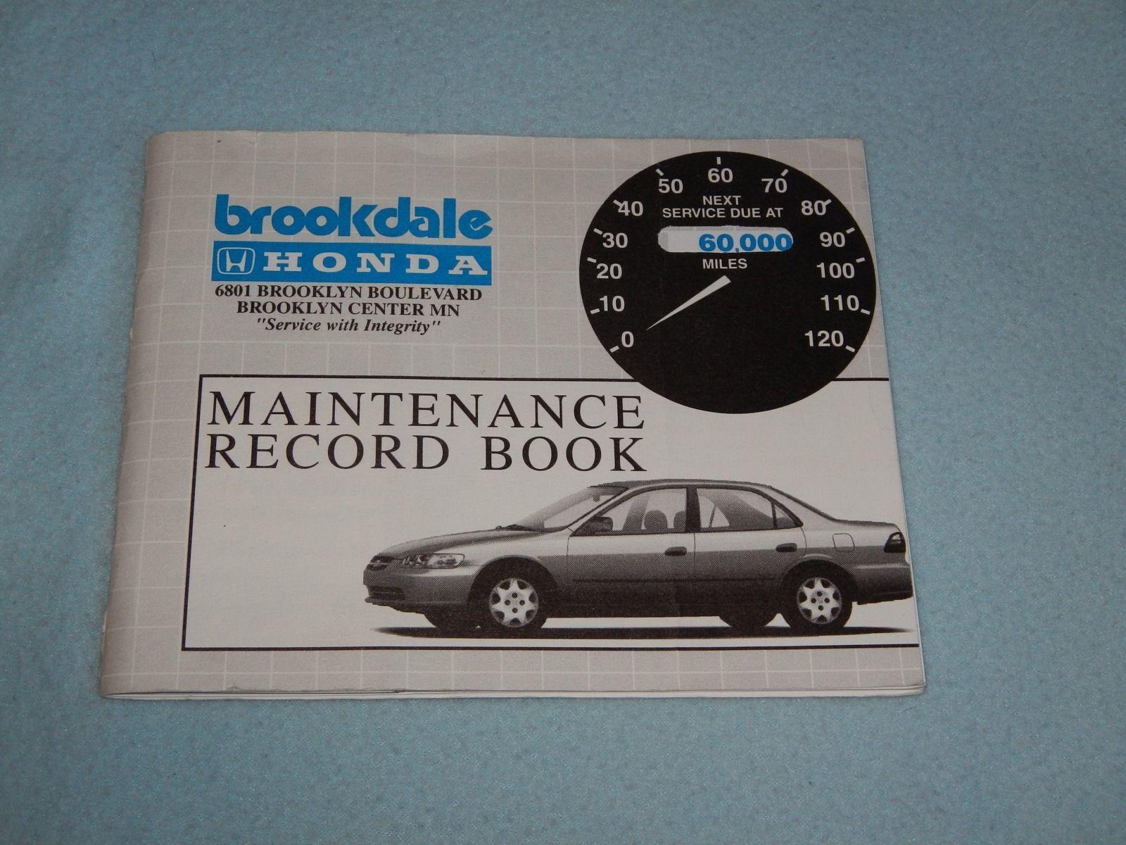 ... 2000 Honda Accord Owners Manual With Binder ...