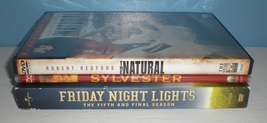 3 dvd lot - The Natural Sylvester Friday Night Lights The Fifth and Fina... - $3.97