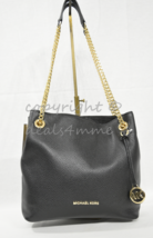 Michael Kors Leather Jet Set North South Medium Chain Shoulder Tote / Cr... - $199.00