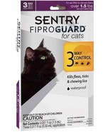 Sentry Fiproguard for Cats (Over 1.5 pound) - 3 Ct - €12,14 EUR