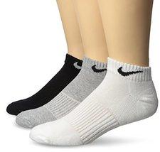 NIKE Performance Cushion Low Training Socks (3 Pair), Multi Color, X-Large - $26.12