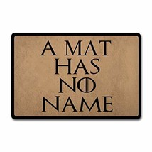 ZQH Outdoor Door Mat A Mat Has No Name Doormat Monogram Game of Throne D... - $32.08