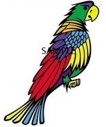 COLOURFUL PARROT CROSS STITCH CHART - $10.00