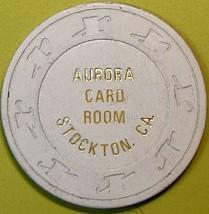 10¢ Vintage Casino Chip. Aurora Card Room, Stockton, CA. 1953. Q35. - $6.99