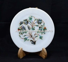 """8"""" Pauashell Marble Round Plate Marvelous Inlay Design Decorative Gifts ... - $76.30"""