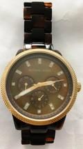 Michael Kors MK5038 Tortoise Band Wrist Watch for Women DEFECTIVE - $18.95