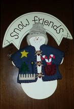 Snow Friends Painted Wood Welcome Sign Home Interiors & Gifts - $15.43