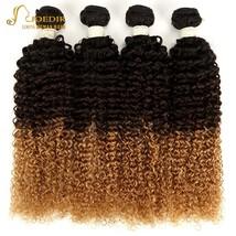 Joedir 3 Tone Ombre Brazilian Kinky Curly Hair Weave Bundles 1B/4/27 100% Human  - $233.60