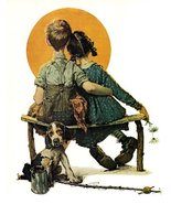 Norman Rockwell First Love 1926 Art Print - 8 in x 10 in - Unmatted, Unf... - $5.50
