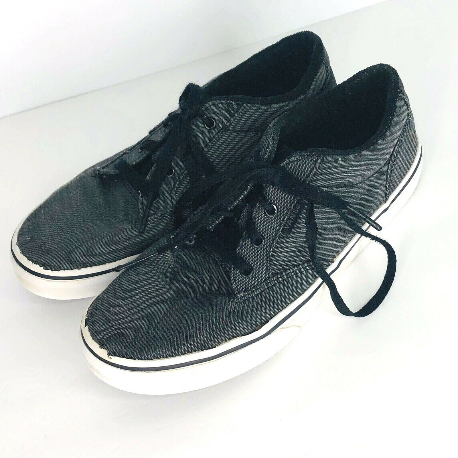 Primary image for Vans Off the Wall Youth Gray Canvas Skate Shoes Size 5 Sneaker Tennis Shoe
