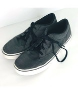 Vans Off the Wall Youth Gray Canvas Skate Shoes Size 5 Sneaker Tennis Shoe - $19.79