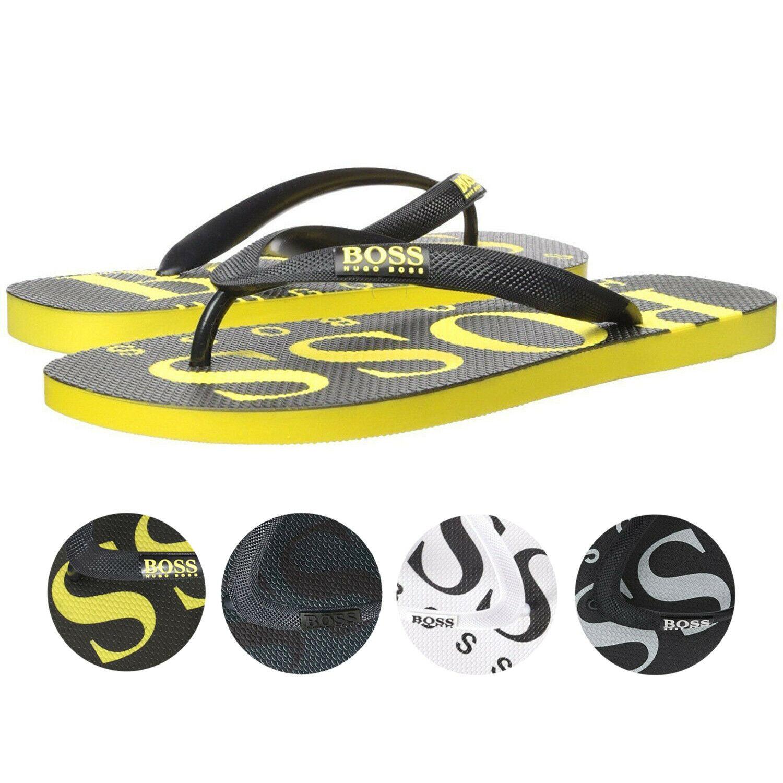 Hugo Boss Men's Wave Thong Digital Rubber Beach Pool Flip Flops Sandals 50388497