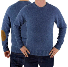 Levi's Men's Wool Pullover Crew Neck Elbow Patch Sweater New w/Defect S