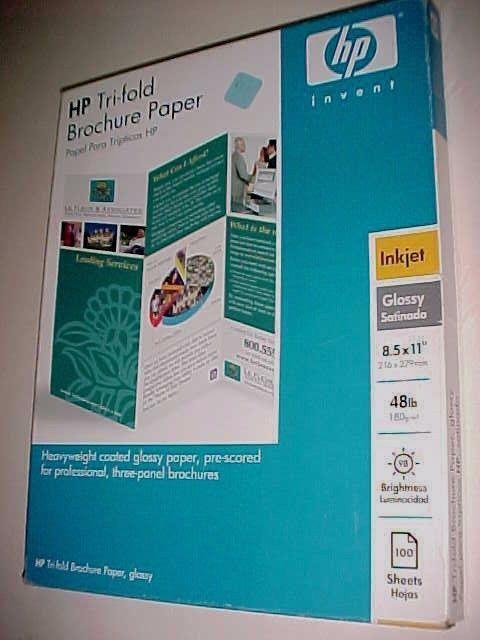 hp tri fold brochure template - hp tri fold brochure glossy flyer paper 48lb inkjet 100