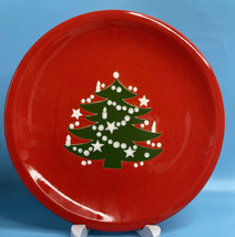 "WAECHTERSBACH CHRISTMAS TREE 10"" DINNER PLATE GERMANY KNOCK RESISTANT S... - $18.76"