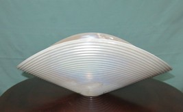 Murano Large Folded Bowl Iridescent Mother of Pearl Shell - $298.00