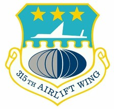 USAF 315th Airlift Wing 12'' Sticker Military - $24.74