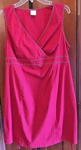 Red Motherhood Maternity Cotton Blend Back Tie V Neck sexy Dress Size L EUC - $10.93