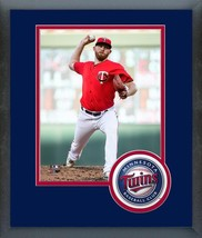Zack Littell 2018 Minnesota Twins -11x14 Team Logo Matted/Framed Photo - $43.95