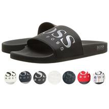 Hugo Boss Men's Graphic Rubber Slip On Beach Pool Solar Slides Sandals 50388496