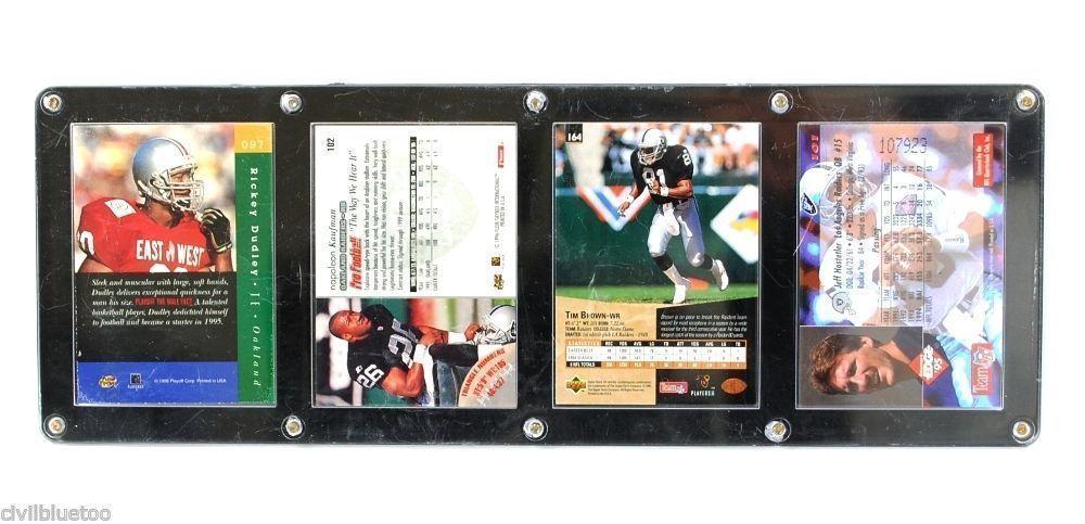 Sports Plaque 4 Cards Hostetler Brown Kaufman Dudley 1995-96 Football NFL